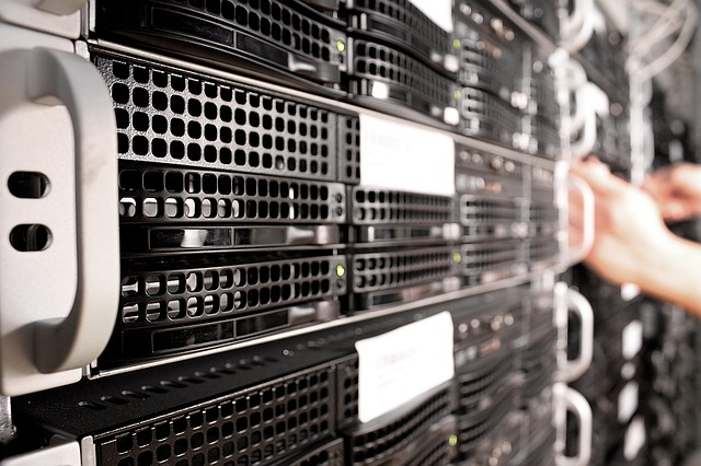 Photo of servers stacked on top of each other