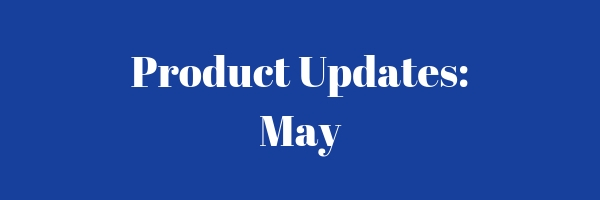 "Decoration banner saying ""Product Update: May""."